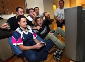 jugando a videojuegos
